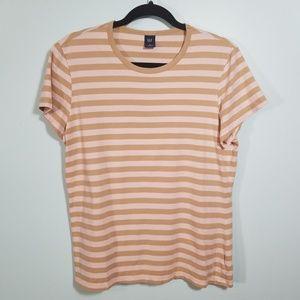 GAP Neutral Stripe Cotton T Shirt